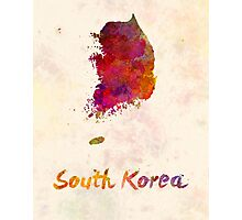 South Korea in watercolor Photographic Print