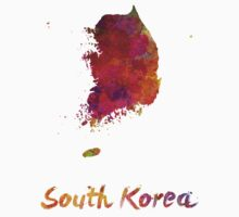 South Korea in watercolor Kids Tee