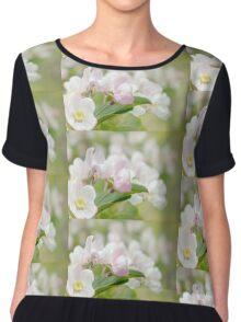 Soft freshness of apple blossom Women's Chiffon Top