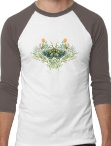 Moth with Plants Men's Baseball ¾ T-Shirt