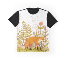 Fox and Flowers Graphic T-Shirt