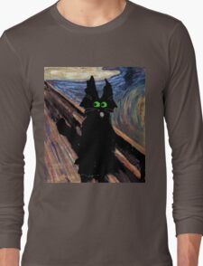 Cat Screaming Long Sleeve T-Shirt