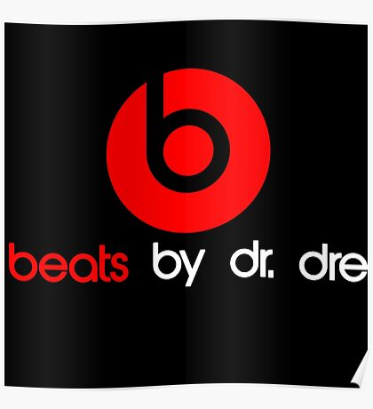 MUSIC BEATS HEADPHONE LOGO Poster