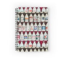 Milk Bottles of old  Spiral Notebook