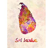 Sri Lanka in watercolor Photographic Print