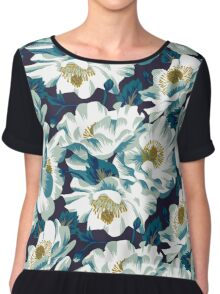 Mount Cook Lily - dark colourway Chiffon Top