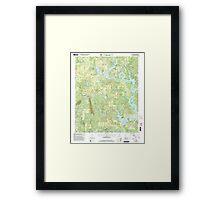 USGS TOPO Map Alabama AL Black Pond 303260 2000 24000 Framed Print