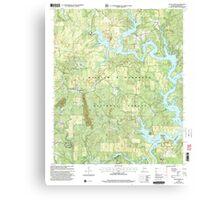 USGS TOPO Map Alabama AL Black Pond 303260 2000 24000 Canvas Print