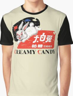 White Rabbit Creamy Candy Vintage Graphic T-Shirt