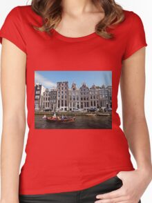 Amsterdam Canal III Women's Fitted Scoop T-Shirt