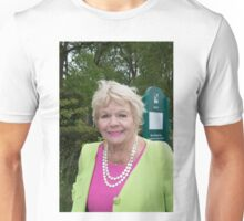 Judith Chalmers at the Chelsea flower show 2015 Unisex T-Shirt