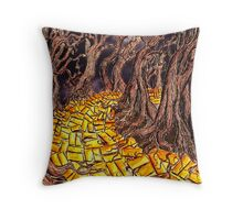 Yellow Brick Road Throw Pillow