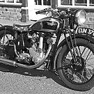 Old BSA Motorcycle  by Kawka