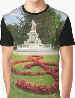 Mozart Statue In Vienna, Austria Graphic T-Shirt