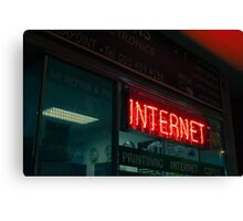 Internet Neon Sign Canvas Print