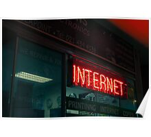 Internet Neon Sign Poster