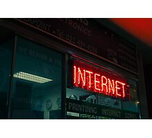 Internet Neon Sign Photographic Print