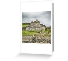 St. mawes Fortress, Square Format Greeting Card