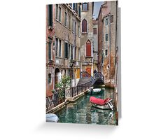 A Canal In Venice Italy Greeting Card