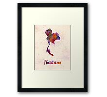 Thailand in watercolor Framed Print