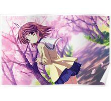 Nagisa Winter Uniform Colour - Clannad Poster