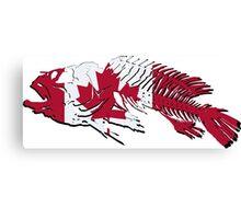 Canadian Fishing - Canada Flag - Maple Leaf Canvas Print