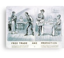 Free trade and protection - 1888 - Currier & Ives Metal Print