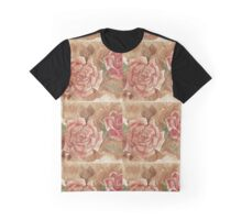 Vintage Coffee Roses Graphic T-Shirt