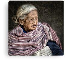 Lady in Bhaktapur #0401 Canvas Print