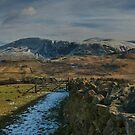 winter mountain view lake district cumbria by eddiej