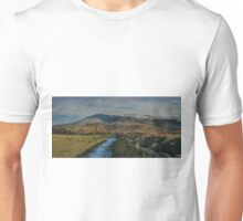 winter mountain view lake district cumbria Unisex T-Shirt