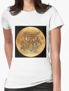 The Tiger in the Moon Womens Fitted T-Shirt
