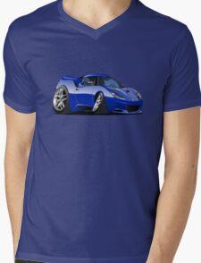 Cartoon Sportcar Mens V-Neck T-Shirt
