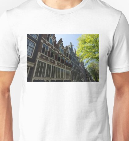Amsterdam Spring - Elegant Facades Since Year 1642 - Right Unisex T-Shirt