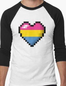 Pansexual Pixel Heart Men's Baseball ¾ T-Shirt