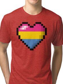 Pansexual Pixel Heart Tri-blend T-Shirt
