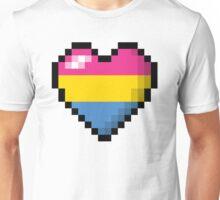 Pansexual Pixel Heart Unisex T-Shirt