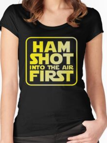 Ham Shot First Women's Fitted Scoop T-Shirt
