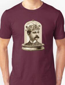 Steampunk Clockwork brain mechanical head in jar T-Shirt