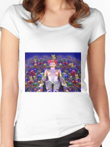 Robot Butterfly Women's Fitted Scoop T-Shirt