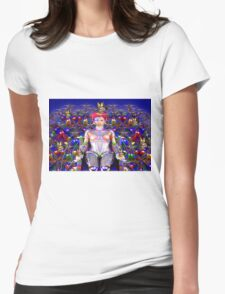 Robot Butterfly Womens Fitted T-Shirt