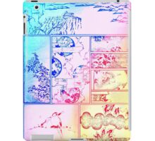 Rainbow Asian Scroll Art Collage Bright Blue Pink Birds Yellow Red Flower Back to School iPad Case/Skin