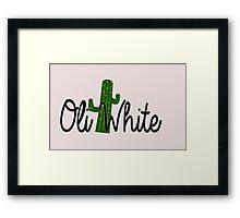 Oli White Cactus Design  Framed Print