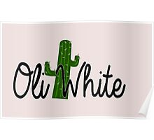 Oli White Cactus Design  Poster
