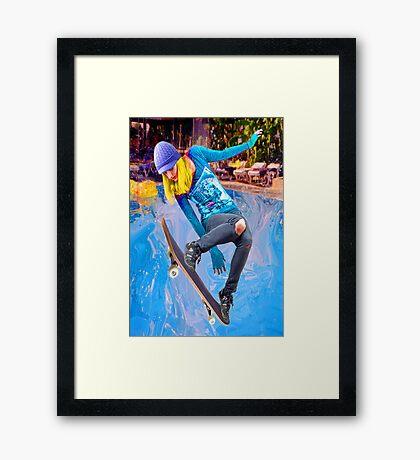 Skateboarding on Water Framed Print