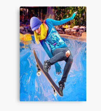 Skateboarding on Water Canvas Print