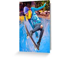 Skateboarding on Water Greeting Card