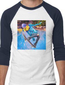 Skateboarding on Water Men's Baseball ¾ T-Shirt