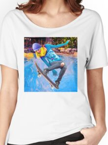 Skateboarding on Water Women's Relaxed Fit T-Shirt