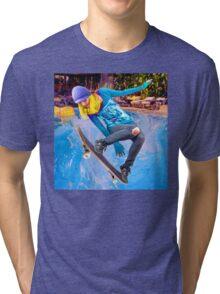 Skateboarding on Water Tri-blend T-Shirt